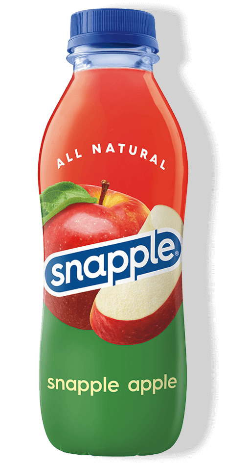 Snapple Apple flavor in recycled plastic bottle