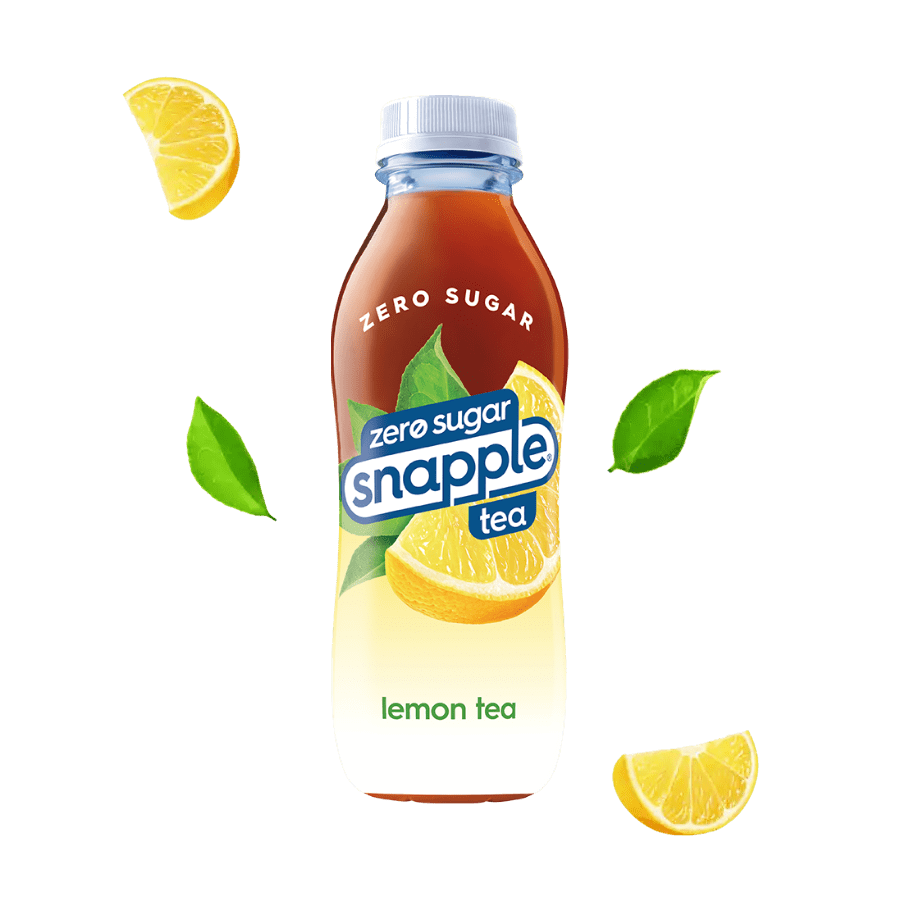 Diet lemon tea flavor in recycled plastic bottle