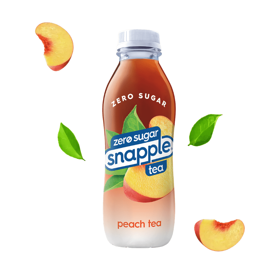 Diet Peach tea in recycled plastic bottle