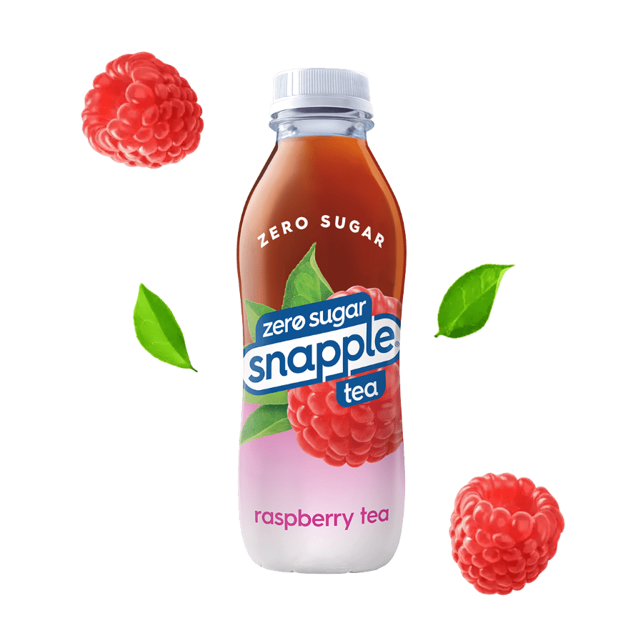 Diet Raspberry tea flavor in recycled plastic bottle