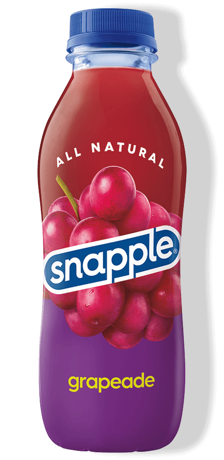Grapeade flavor in recycled plastic bottle