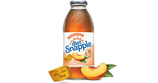 how much salt in diet snapple tea?