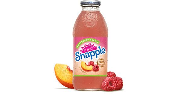 Raspberry Peach Juice Drink   Snapple